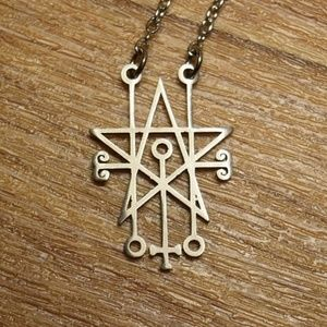 Sigil of Astaroth Satanic Necklace / Pendant